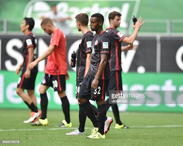 Fussball Saison 2015/2016 1 Bundesliga 1 SpieltagVfL Wolfsburg Eintracht Frankfurt 21Joel Gerezgiher vorne