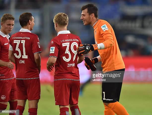 Fussball Saison 2015/2016 2 Bundesliga 1 SpieltagMSV Duisburg 1 FC Kaiserslautern 13vre Torwart Marius Müller Jean Zimmer Chris Löwe Alexander Ring