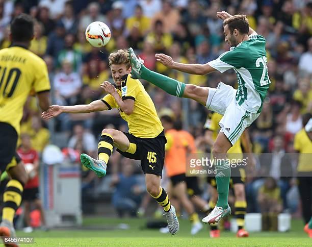 Fussball Saison 2015/2016 Bundesliga Vorbereitungsspiel in WuppertalBorussia Dortmund Real Betis Sevilla 20David Sauerland li gegen Pezzella