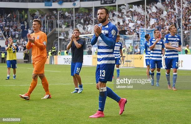 Fussball Saison 2015/2016 DFB Pokal 1 RundeMSV Duisburg FC Schalke 04 05vli Torwart Michael Ratajczak Nico Klotz Zlatko Janjic