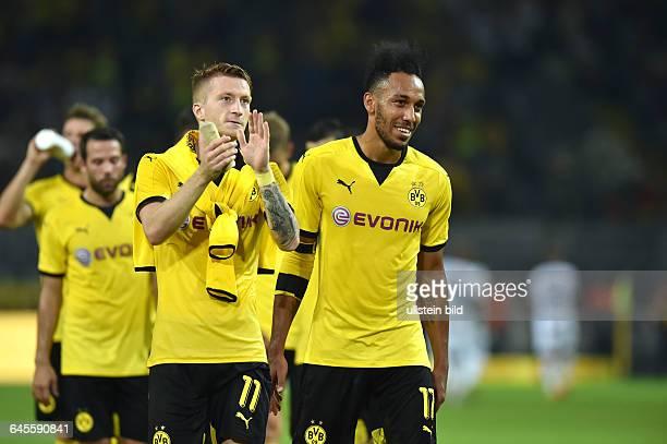 Fussball Saison 2015/2016 Europa League Qualifikation 3 RundeBorussia Dortmund Wolfsberger AC 50PierreEmerick Aubameyang Pierre Emerick Aubameyang re...