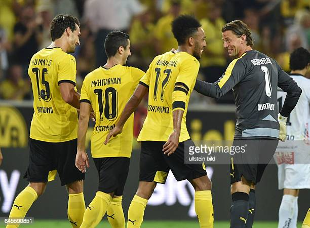Fussball Saison 2015/2016 Europa League Qualifikation 3 RundeBorussia Dortmund Wolfsberger AC 50Jubel Torwart Roman Weidenfeller PierreEmerick...