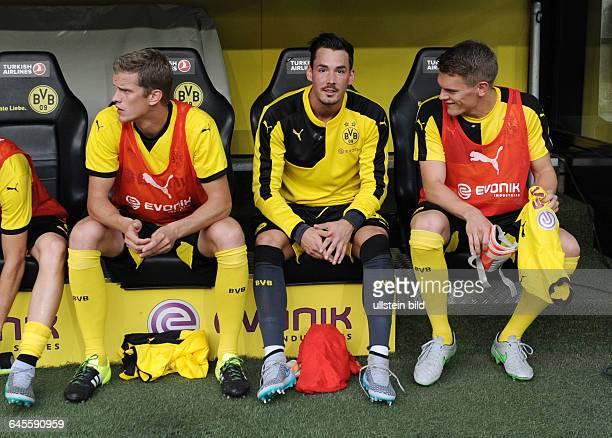 Fussball Saison 2015/2016 Europa League Qualifikation 3 RundeBorussia Dortmund Wolfsberger AC 50vre Matthias Ginter Torwart Roman Buerki Roman Bürki...