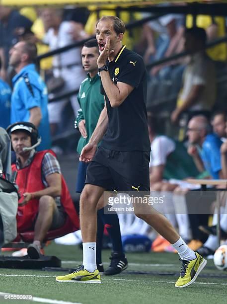 Fussball Saison 2015/2016 Europa League Qualifikation 3 RundeBorussia Dortmund Wolfsberger AC 50Trainer Thomas Tuchel