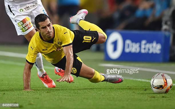 Fussball Saison 2015/2016 Europa League Qualifikation 3 RundeBorussia Dortmund Wolfsberger AC 50Henrikh Mkhitaryan
