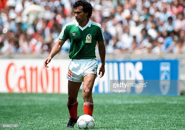 WM 1986 in Mexiko Hugo SANCHEZ / MEX FotoBONGARTS