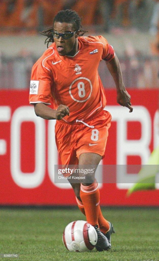 WM Qualifikation 2004, Amsterdam; Niederlande - Finnland ( NED - FIN ) 3:1; Edgar DAVIDS / NED