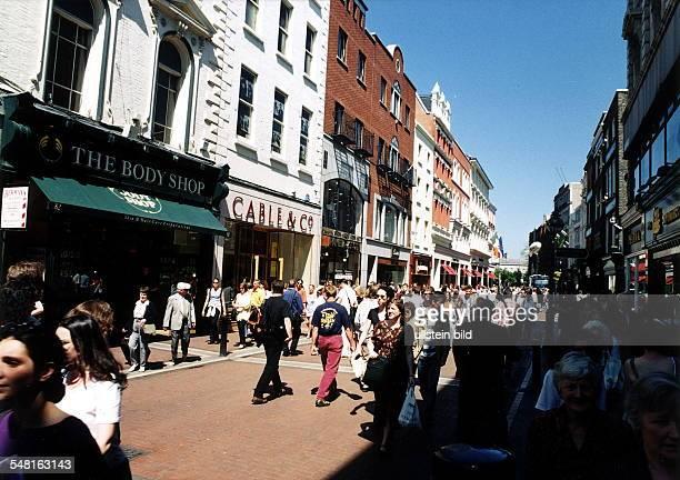 Fussgängerzone in der Grafton Street Mai 1998