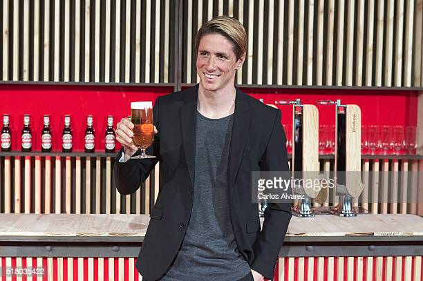 Futbol player Fernando Torres attends the Mahou Spot presentation at the Capitol cinema on March 29 2016 in Madrid Spain