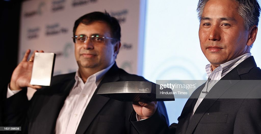 Futoshi Niizuma Executive director (sales) for South Asia, Asean, Australia and New Zealand announce launch of of two new storage products in the Indian market - Seagate Wireless Plus and Seagate Central on March 5, 2013 in New Delhi, India.