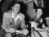 Future American president Ronald Reagan and his wife Nancy Reagan at a costume party given by Rory Calhoun 1950s