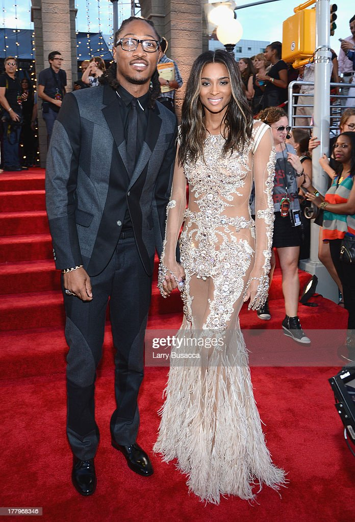 Future (L) and Ciara attend the 2013 MTV Video Music Awards at the Barclays Center on August 25, 2013 in the Brooklyn borough of New York City.