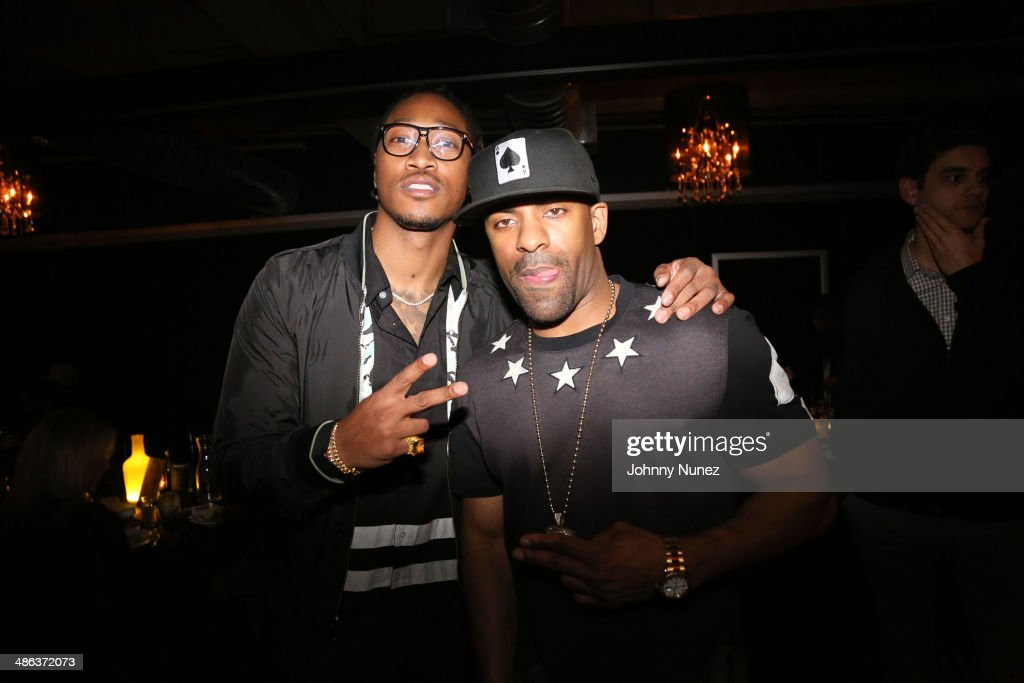 Future and DJ Clue attend Future's Album Release Dinner at TAO Downtown on April 23 2014 in New York City