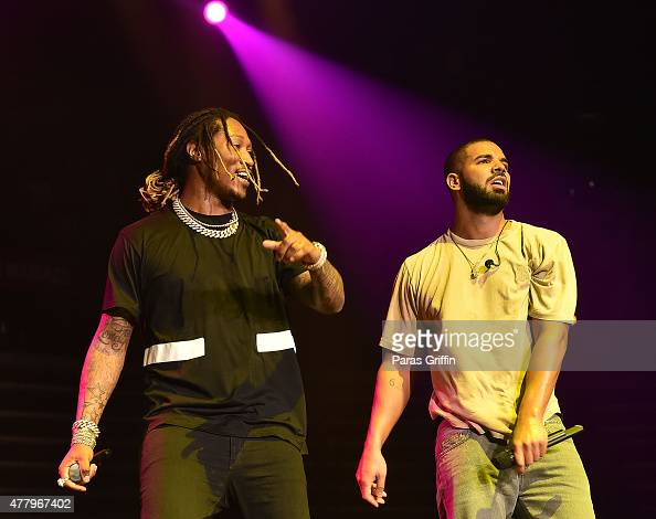 Future and Drake perform onstage at Hot 1079 Birthday Bash Block Show at Phillips Arena on June 20 2015 in Atlanta Georgia