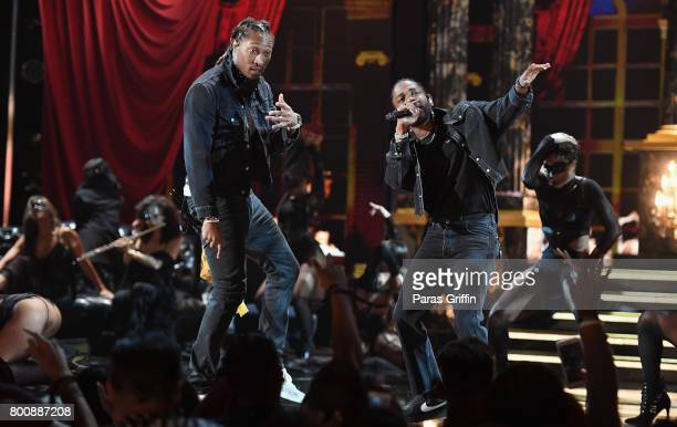 Future and Kendrick Lamar perform onstage at 2017 BET Awards at Microsoft Theater on June 25 2017 in Los Angeles California