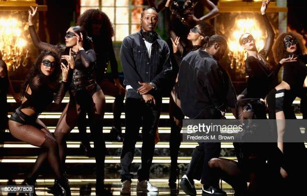 Future and Kendrick Lamar preform onstage at 2017 BET Awards at Microsoft Theater on June 25 2017 in Los Angeles California