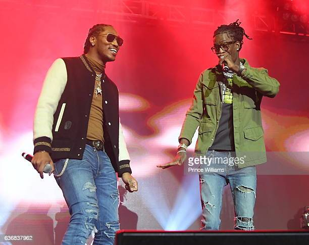 Future and Young thug perform at the TIDAL #CM9 Release Concert at Center Stage on December 23 2016 in Atlanta Georgia