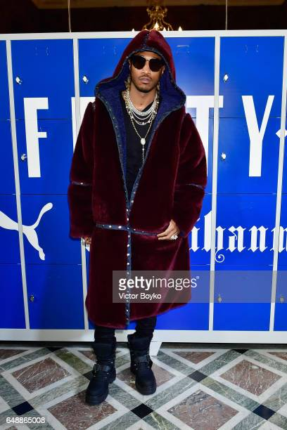 Future attends FENTY PUMA by Rihanna Fall / Winter 2017 Collection at Bibliotheque Nationale de France on March 6 2017 in Paris France