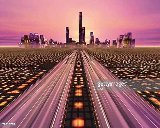 Future City, CG, 3D