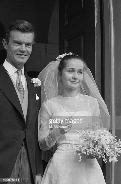 Future Conservative politician Alan Clark with his 16year old bride Jane Beuttler at their wedding in London 31st July 1958