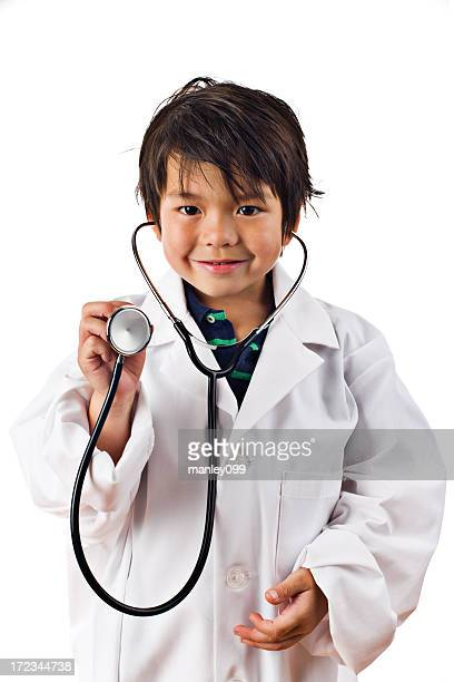 将来の医師に聴診器