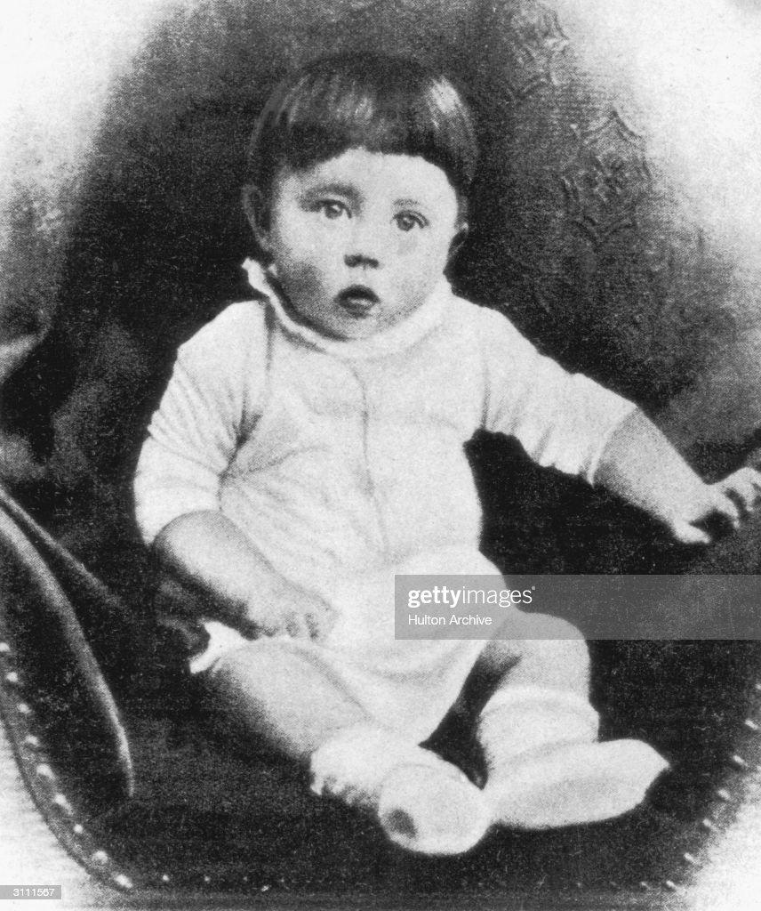 Future Fuhrer Adolf Hitler as a baby circa 1890