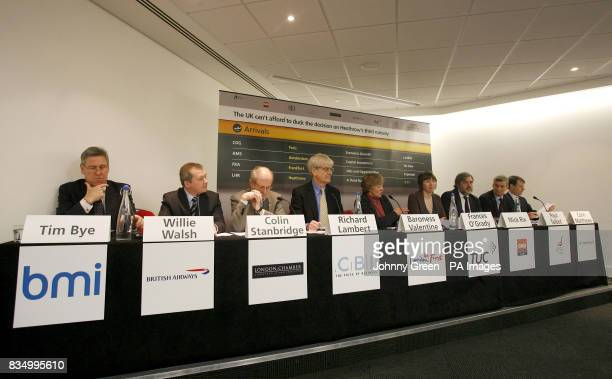 Future Heathrow press conference at the America Square Conference Centre in the City of London attended by the deputy chief executive of BMI Tim Bye...