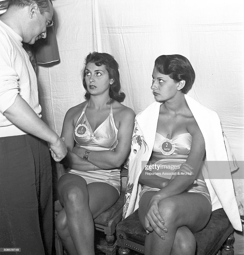 Future Italian actress Sophia Loren Miss Lazio in the selection of Miss Italia Salsomaggiore Terme 1950