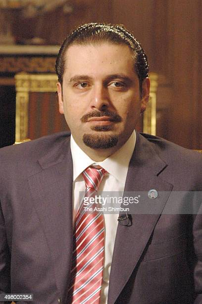 Foture Movement Party Leader Saad Hariri is seen during the Asahi Shimbun interview on May 28 2007 in Beiruit Lebanon
