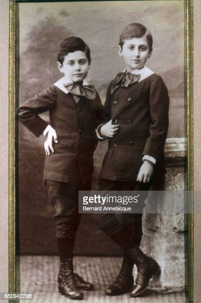 Future novelist Marcel Proust stands with his brother Robert