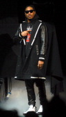 Future performs as a opening act for Drake in concert at The Palace of Auburn Hills on December 16 2013 in Auburn Hills Michigan