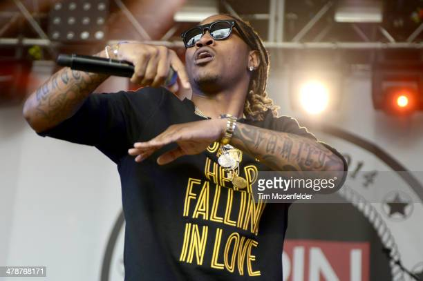 Future performs as part of the Spin Party at Stubbs BarBQ at SXSW FilmInteractiveMusic Day Eight on March 14 2014 in Austin Texas