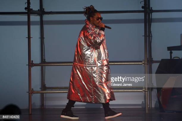 Future performs at the Philipp Plein Spring/Summer 2018 collection fashion show during New York fashion week on September 9 2017 in New York City