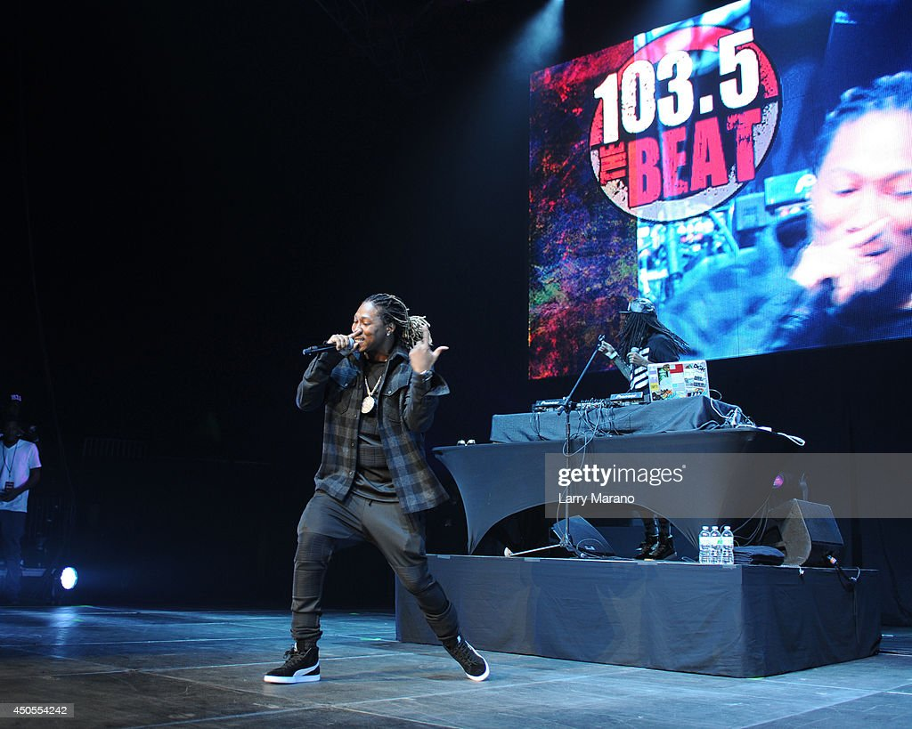 Future performs during the 103.5 The Beat Down concert at BB&T Center on June 12, 2014 in Sunrise, Florida.