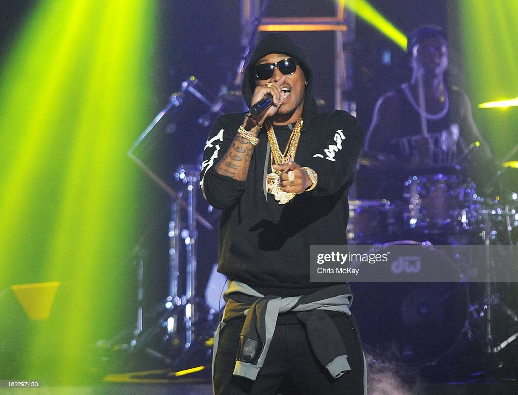 Future performs during the BET Hip Hop Awards 2013 at the Boisfeuillet Jones Atlanta Civic Center on September 28, 2013 in Atlanta, Georgia.