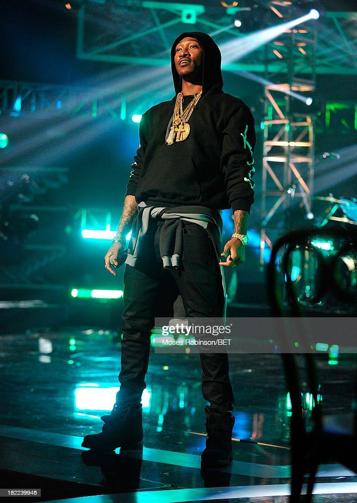 Future performs onstage at the BET Hip Hop Awards 2013 at Boisfeuillet Jones Atlanta Civic Center on September 28, 2013 in Atlanta, Georgia.
