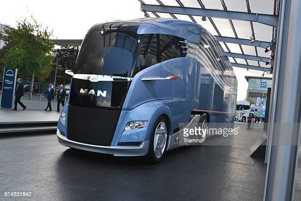 Futuristic aerodynamic truck from MAN