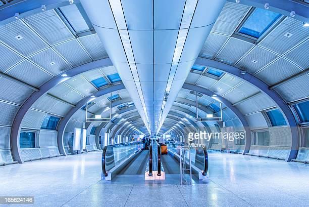 Futuristic Airport Walkway