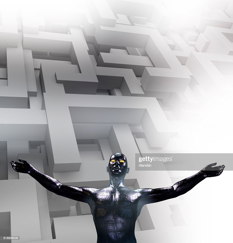 Futuristic alien : Stock Photo