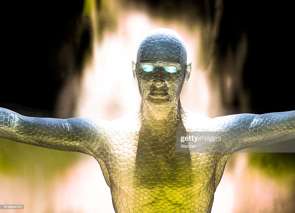 Futuristic Alien : Stock Photo
