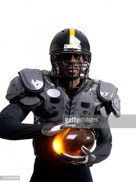 Futuristische American-Football-Spieler mit Polstern