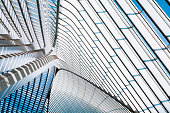 futuristic roof of a modern transportation building, Liege Guillemins railroad station, Belgium