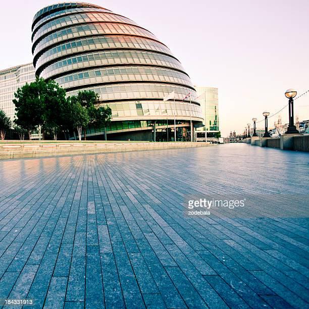 Architecture futuriste Palace, hôtel de ville de Londres