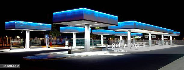 La terminal de autobuses de futurista