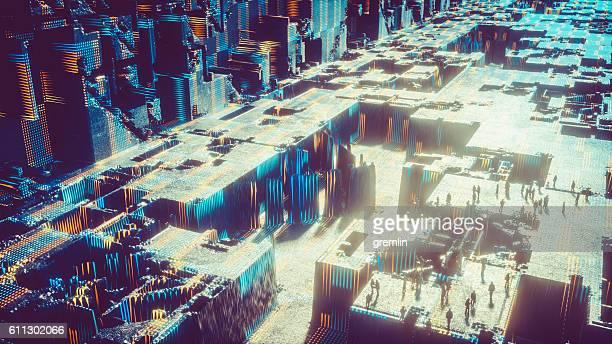 Futuristico paesaggio urbano