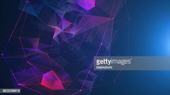 Futuristic digital blockchain background, fintech technology : Stock Photo
