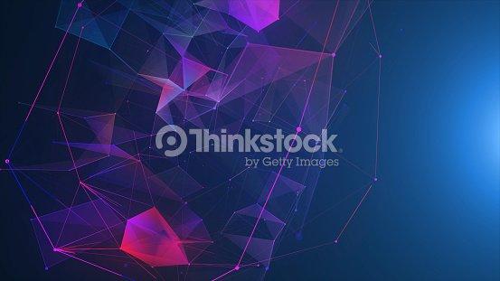 Futuristic digital blockchain background, fintech technology : Stock Photo