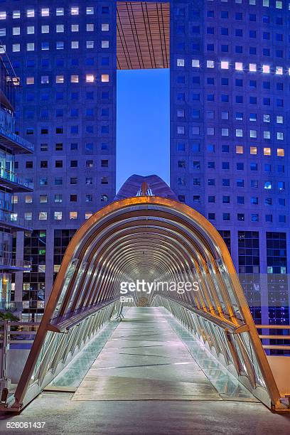 Le futur passerelle Tunnel, du quartier des affaires de La Défense, à Paris, en France