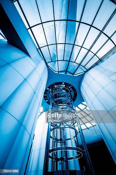 futuristic elevator