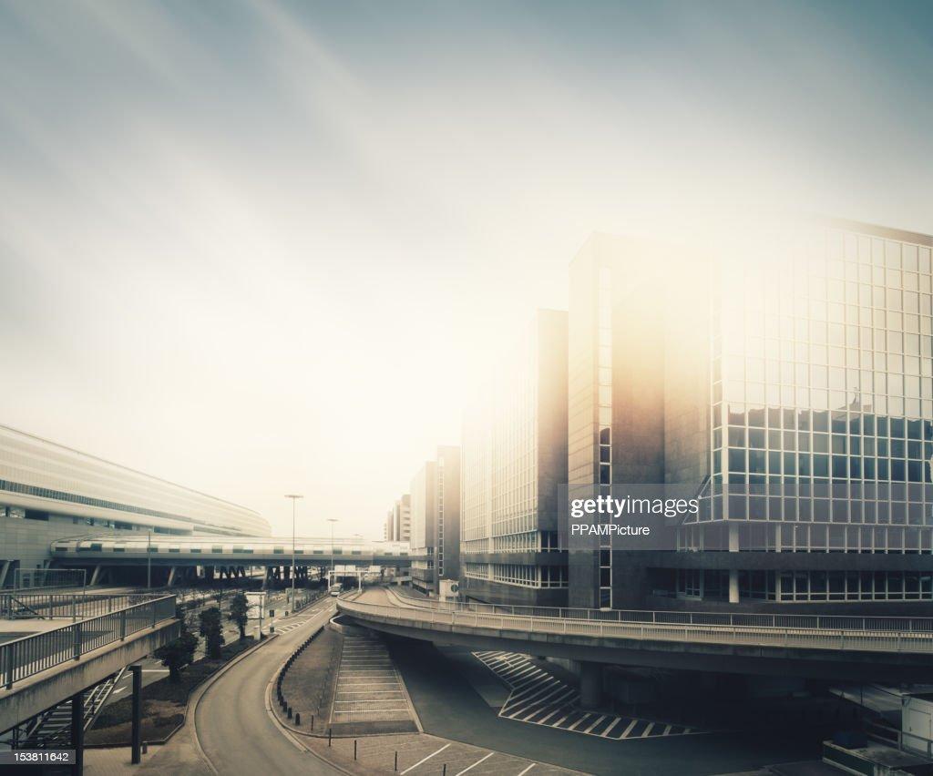 Futuristic empty city